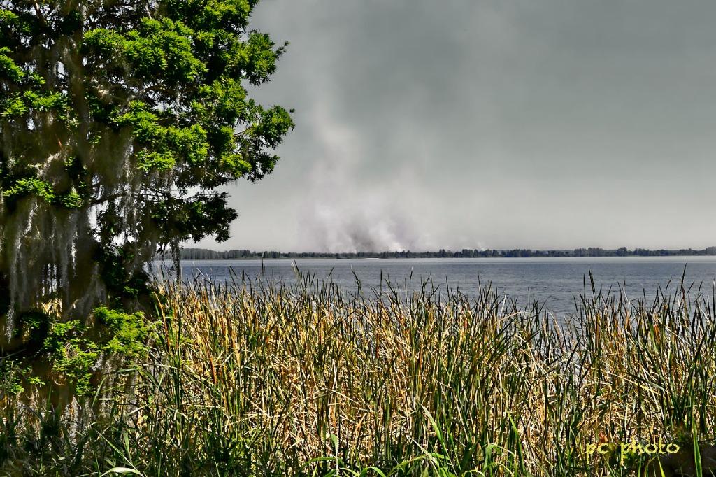WEATHER #1 Brush fire Lake Hancock