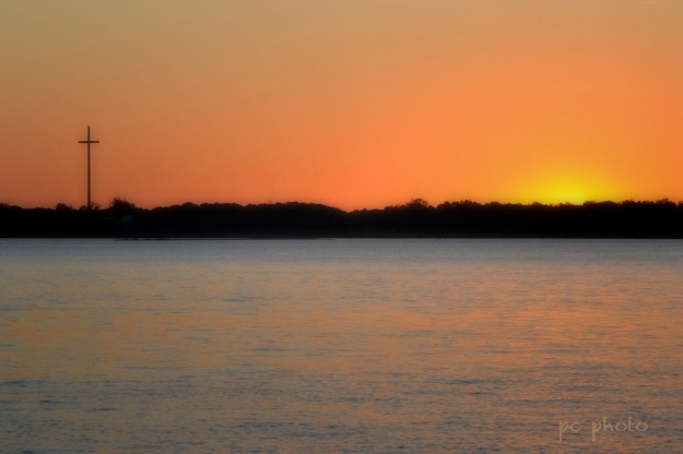 Sunset on St John's : Religion  - lens effects1