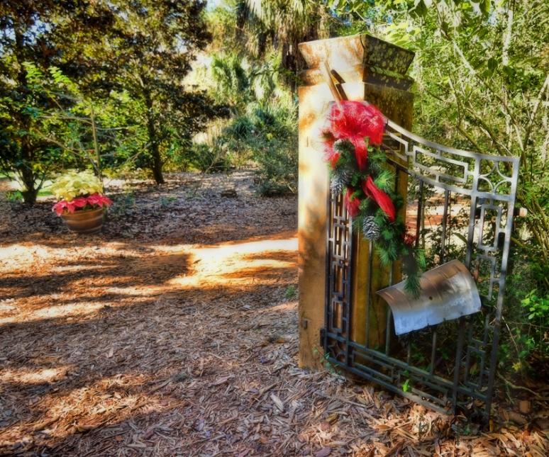 Estate gate at Christmas II1