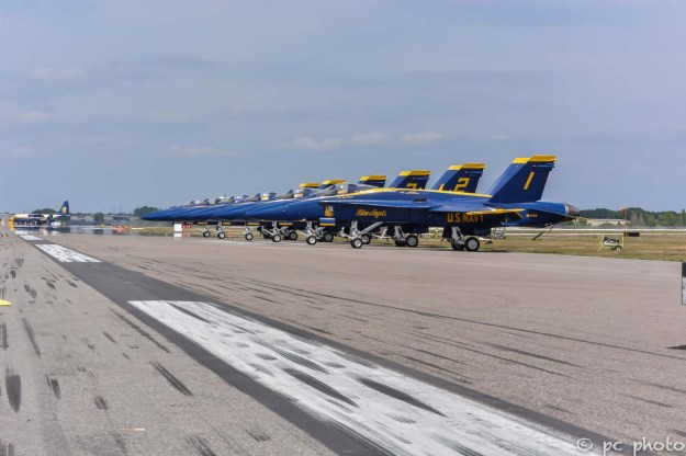 #1 Blue Angel jets lined up along the tarmac-258