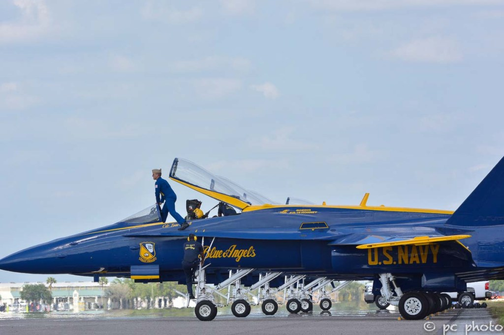 #3 Blue Angel Cmdr entering cockpit-297