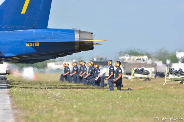 #4 Blue Angels ground crew facing the exhaust fumes-308
